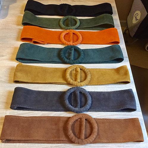 ceintures en cuir réglables
