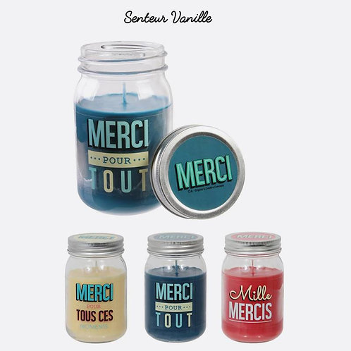 "Bougie Parfumée  senteur Vanille ""Merci"""