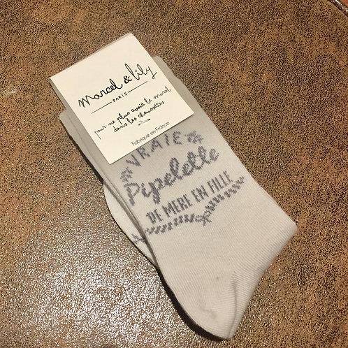 chaussettes pipelette de mère en fille