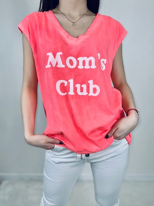 tee-shirt mom's club rose