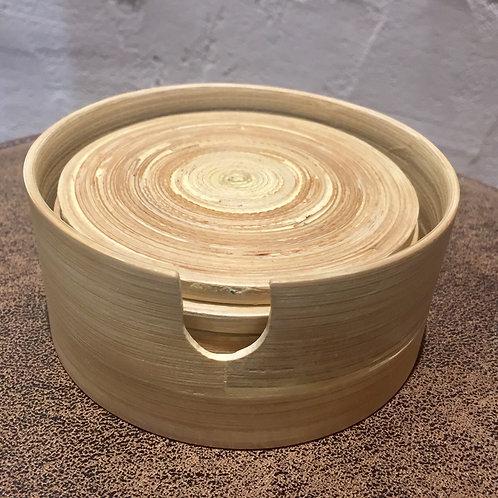 Ensemble de 6 dessous de verre en bambou