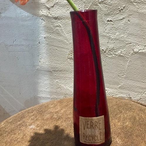 vase en verre 100% recyclé