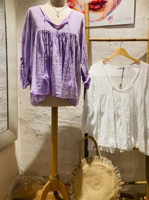 tunique en coton & lin