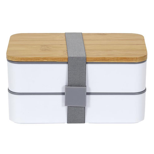 Lunch box 2 niveaux avec bande élastique