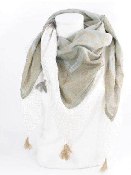 Foulard carré coton tendance mode - grise