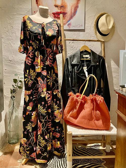 robe longue fleurie 100% viscose