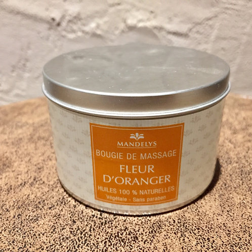 bougie de massage - fleur d'oranger