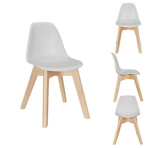 Chaise scandinave enfant coque grise