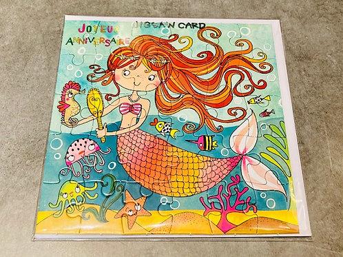 Carte PUZZLE  17.5 x 17.5 cm JOYEUX ANNIVERSAIRE