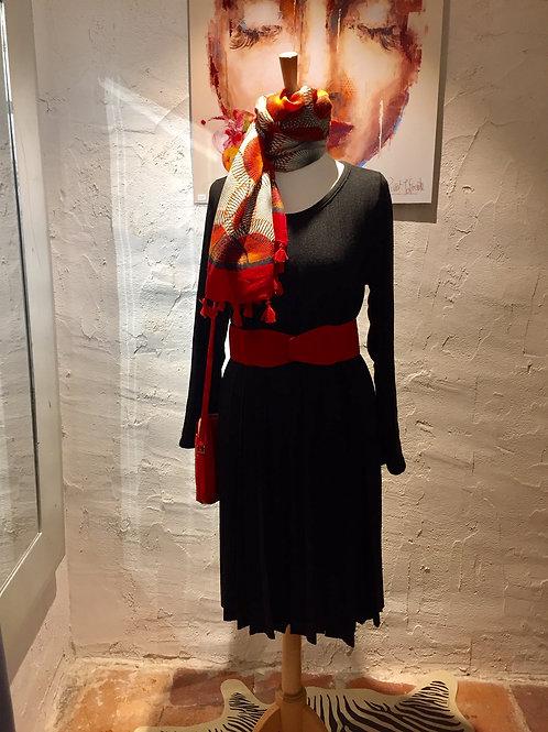 robe plissé en lainage