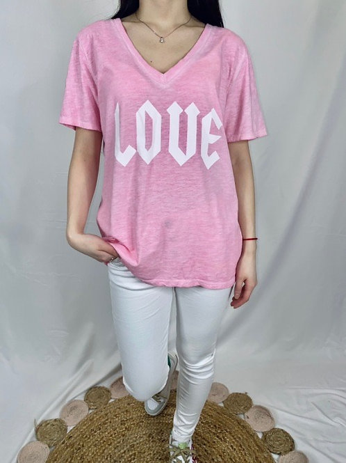 tee shirt love rose