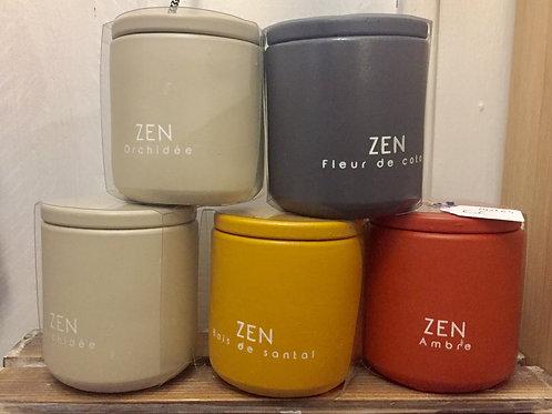 Bougie parfumée top ciment ZEN