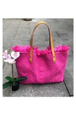 sac cabas en tissu rose