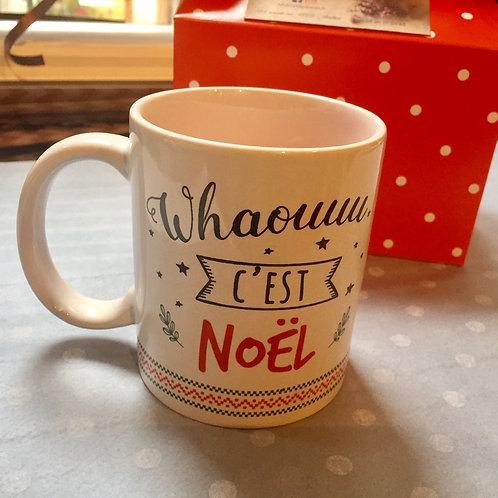 mug bougie Whaou c'est noël