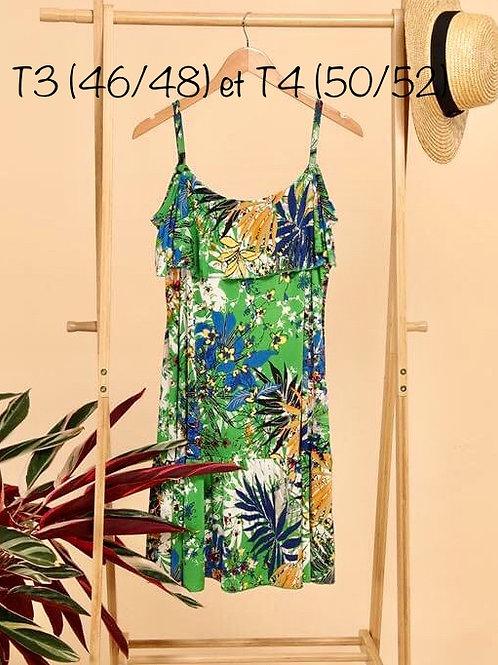 robe courte fleurie (3 coloris)