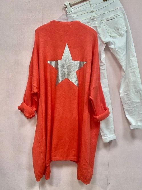 veste corail étoile argentée