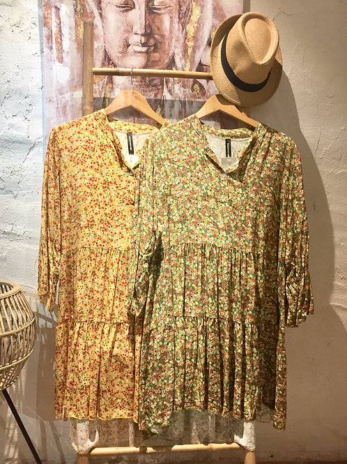 robe courte fleurie