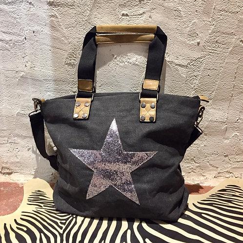 sac week-end Etoile gris/noir