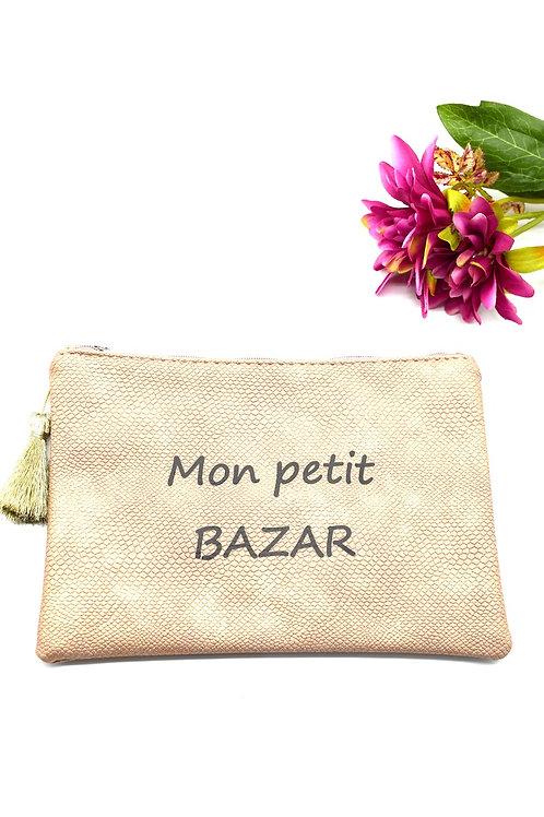 pochette Mon petit bazar cuivrée
