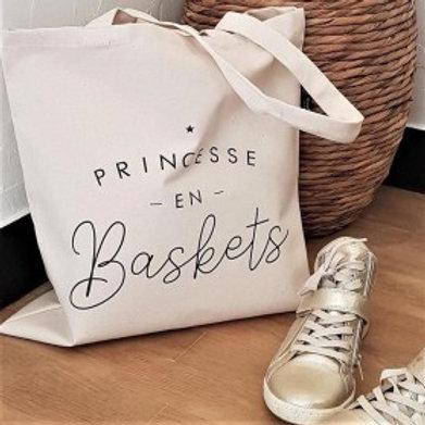 Tote bag Princesse en Baskets