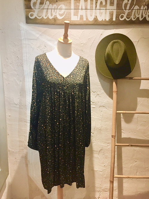 robe léopard kaki C'MELODIE