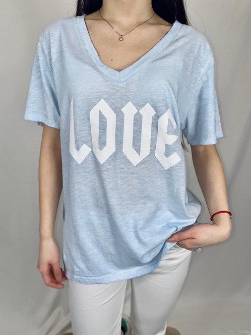 tee shirt love bleu