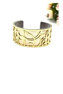 bracelet doré type Georgette couleur champagne