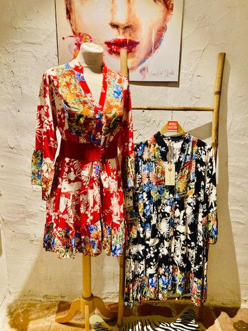 robe courtes fleuries
