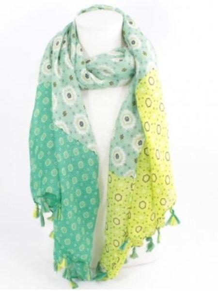 foulard imprimé mode - vert