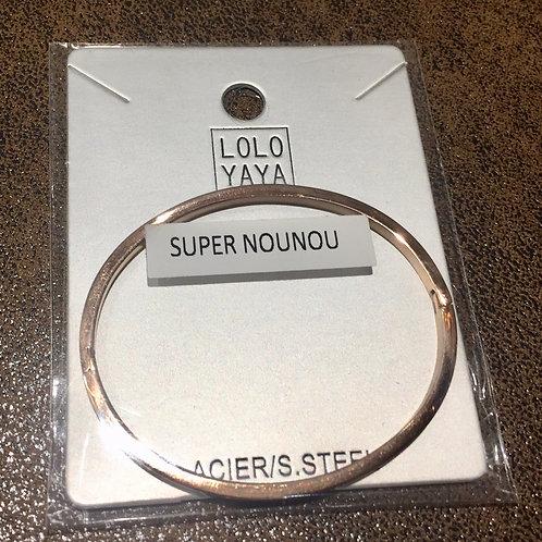 Bracelet acier inoxydable Super nounou