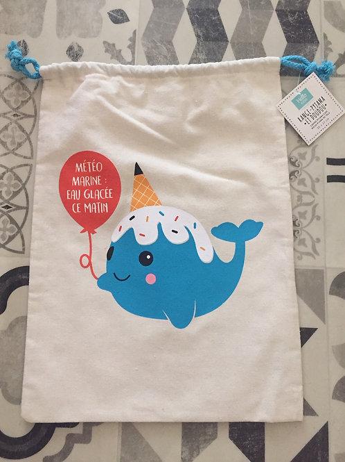 sac goûter licorne baleine