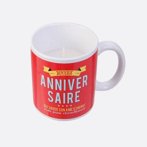 Mug / Bougie Anniversaire Senteur Vanille 9.5 X 8 CM