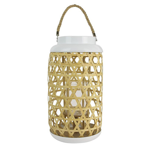 Lanterne tressée bois