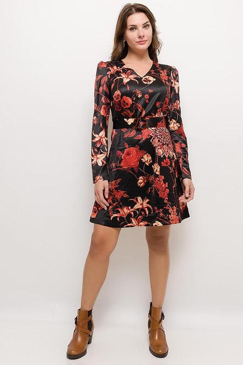 robe fleurie cintrée