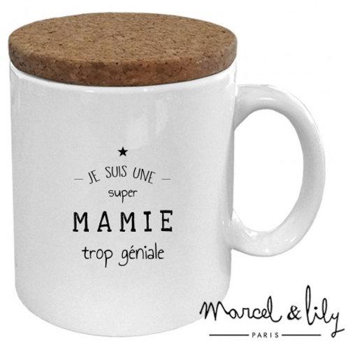 MUG avec son couvercle en liège Mamie
