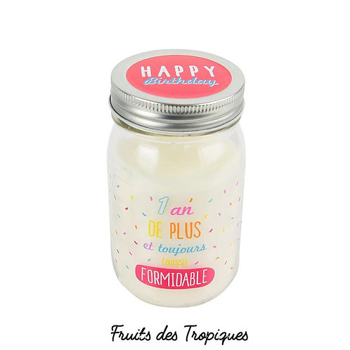 Bougie parfumée bocal 1 an de plus H13cm
