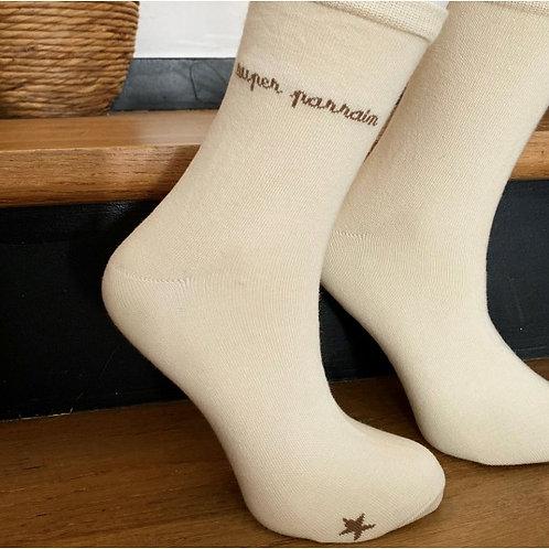 chaussettes Super Parrain