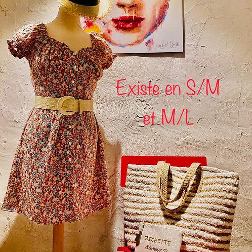 robe fleurie courte