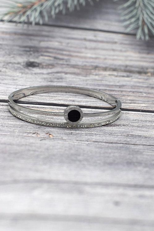 bracelet argenté acier inoxydable