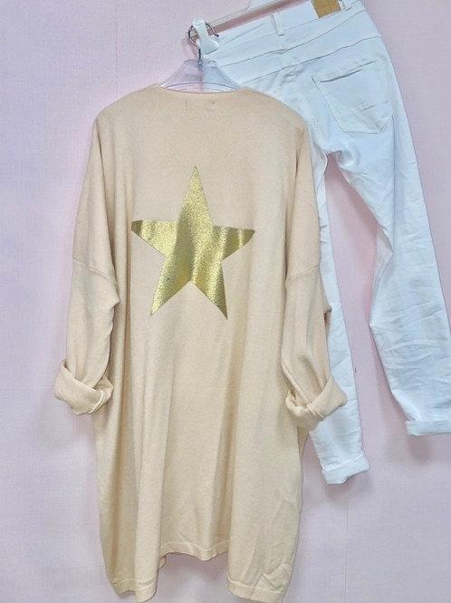 veste rose pastel étoile dorée