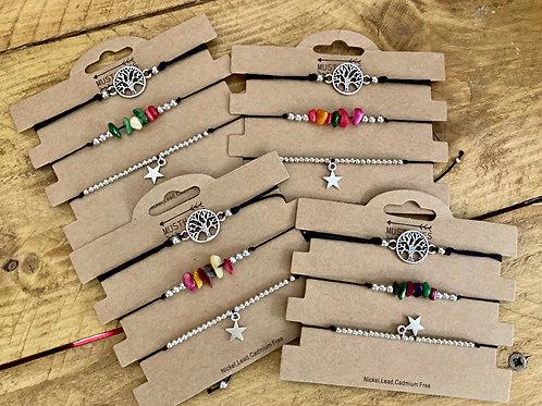 Pack de 3 Bracelets Etoile et Arbre de Vie