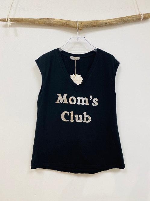 tee-shirt mom's club noir