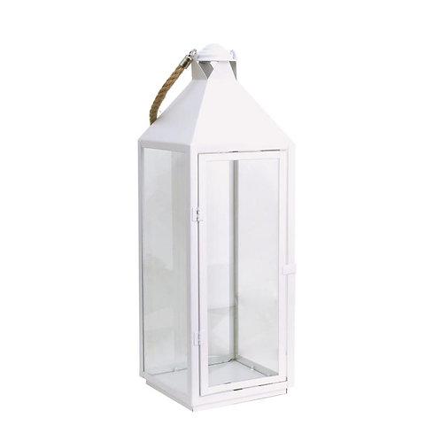 Lanterne métal et verre décorative Grand modèle