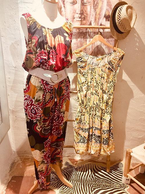 combinaison pantalon fleurie