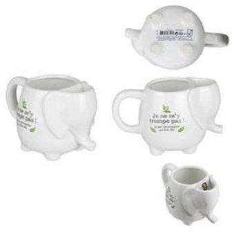 Mug elephant et repose sachet de thé 40CL