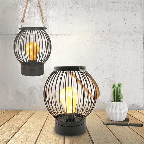 Lanterne filaire ampoule Led bistrot 18X15 cm