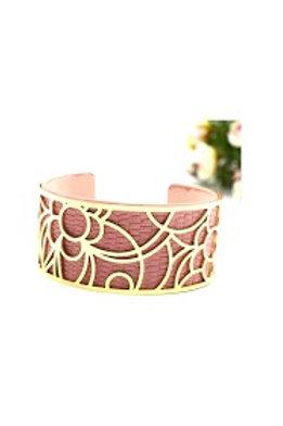 bracelet doré type Georgette couleur vieux rose