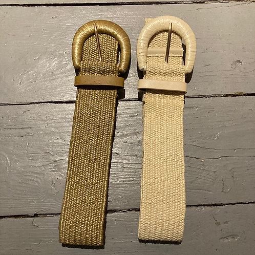 ceinture élastique en rafia