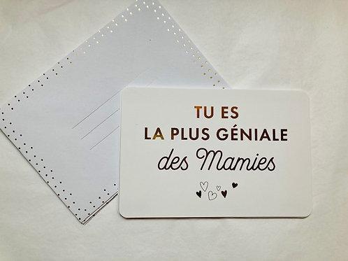 Carte 10 x 15 mamie