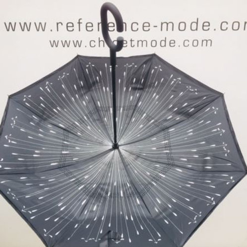 parapluie inversé noir